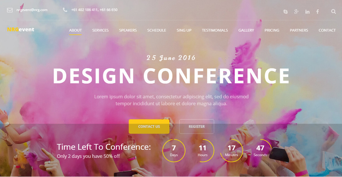 18 Best Event Website Templates For All Types Of Events And Conferences 2018