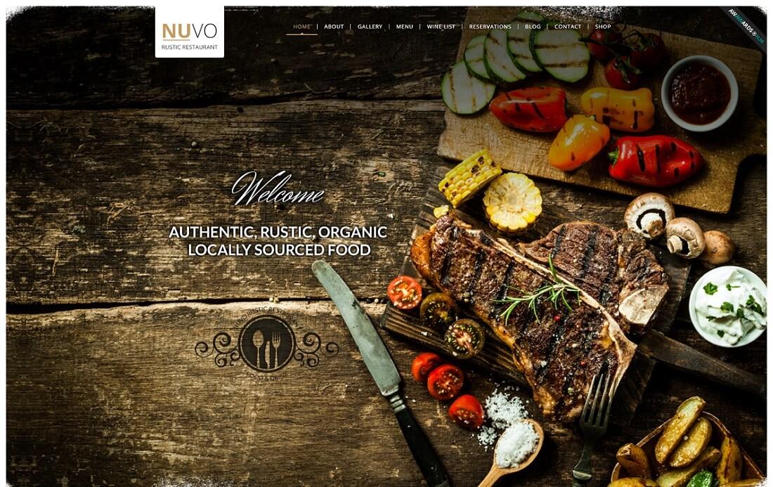 nuvo catering wordpress theme