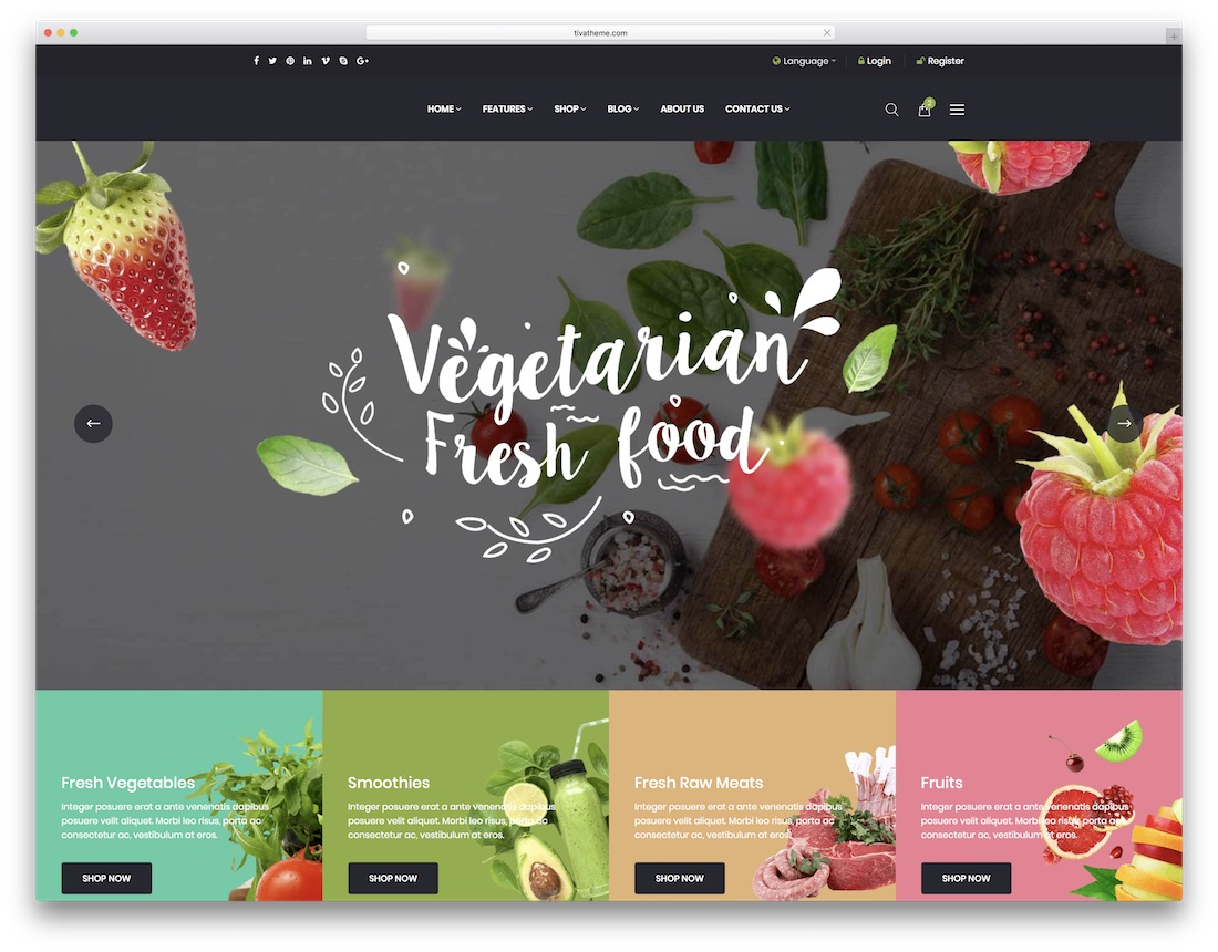 oars html5 restaurant website template