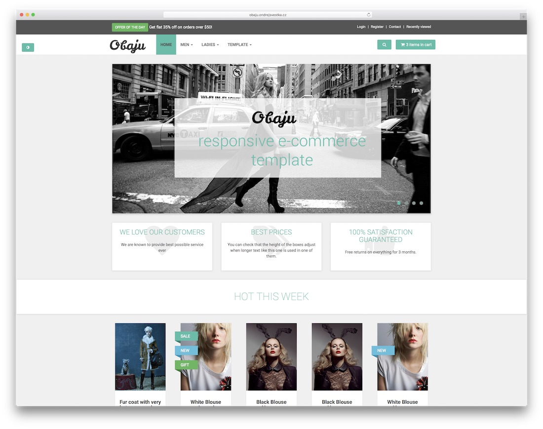 obaju free bootstrap ecommerce website template