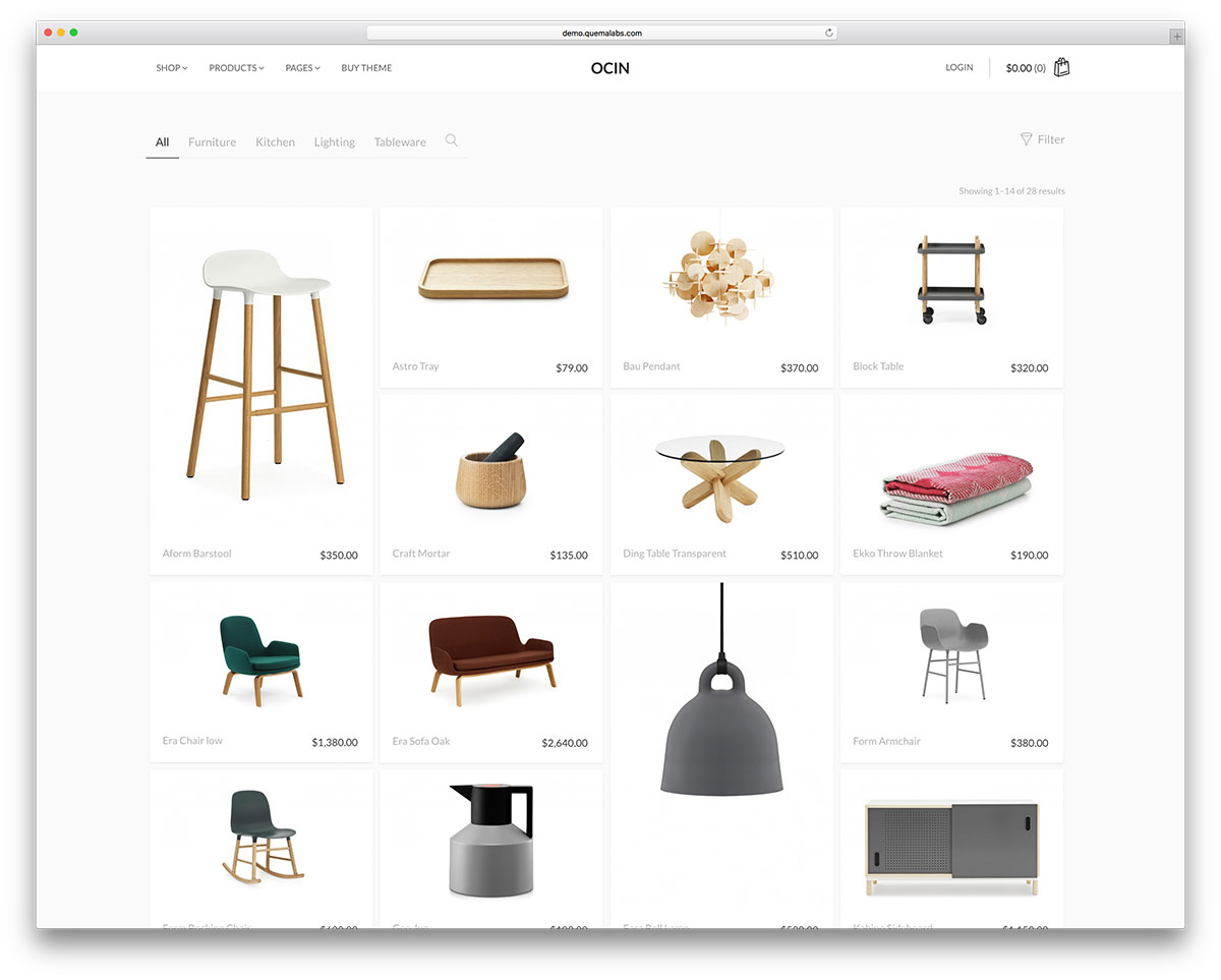 ocin-minimal-woocommerce-website-template
