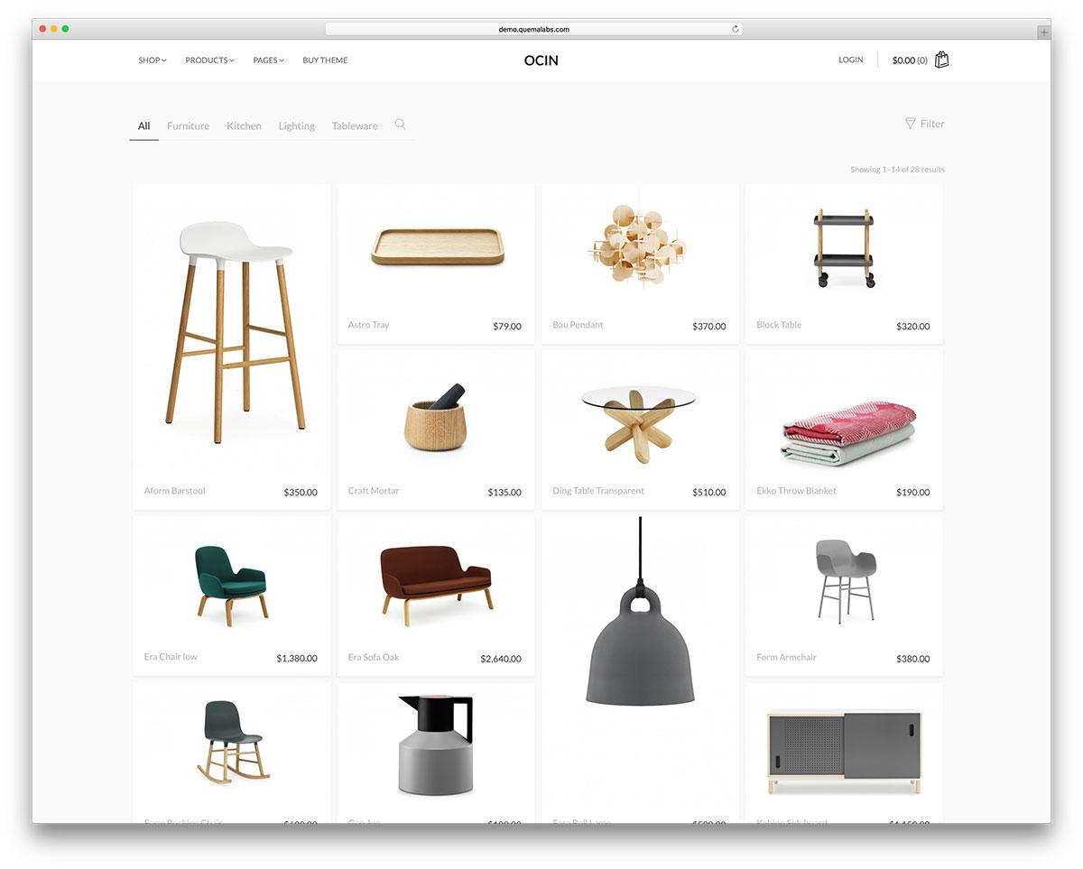 ocin-minimal-woocommerce-website-template