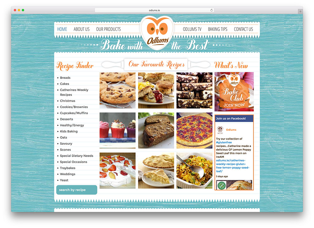 odlums-recpies-site-using-wordpress-total-theme
