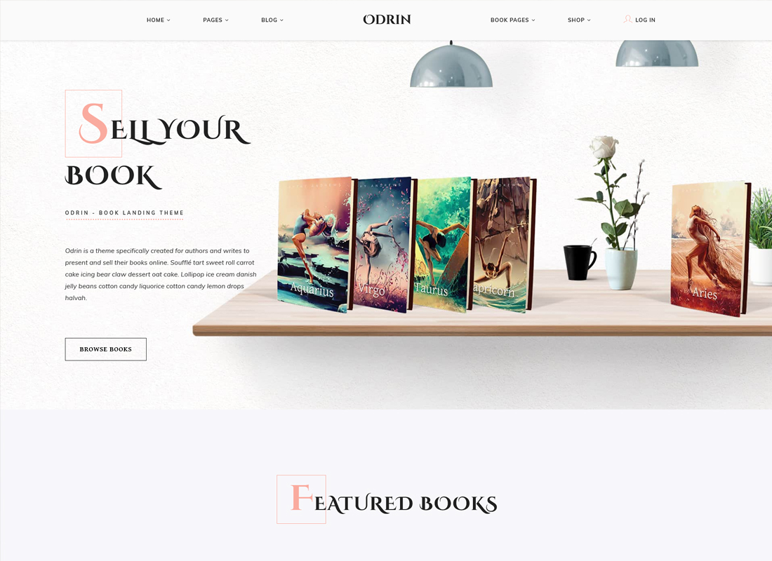 Odrin | Book Selling WordPress Theme for Writers and Authors