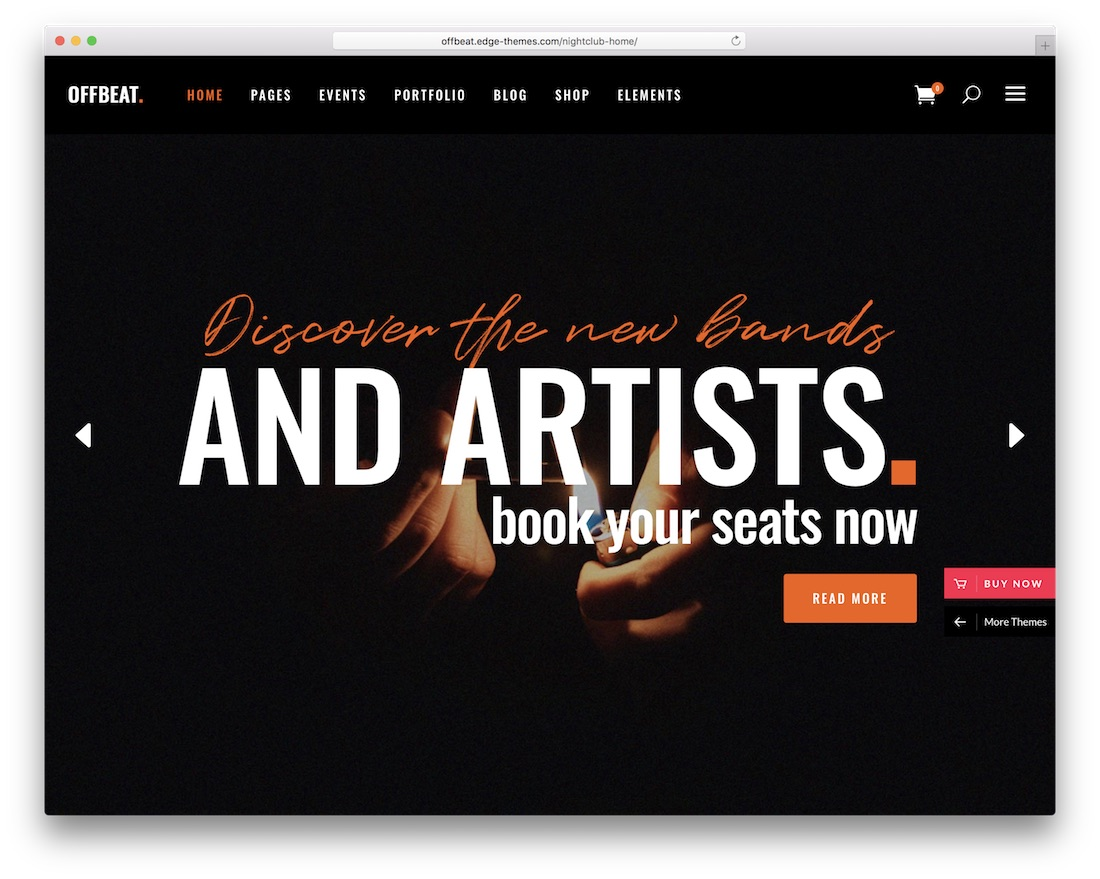 offbeat wordpress nightclub theme