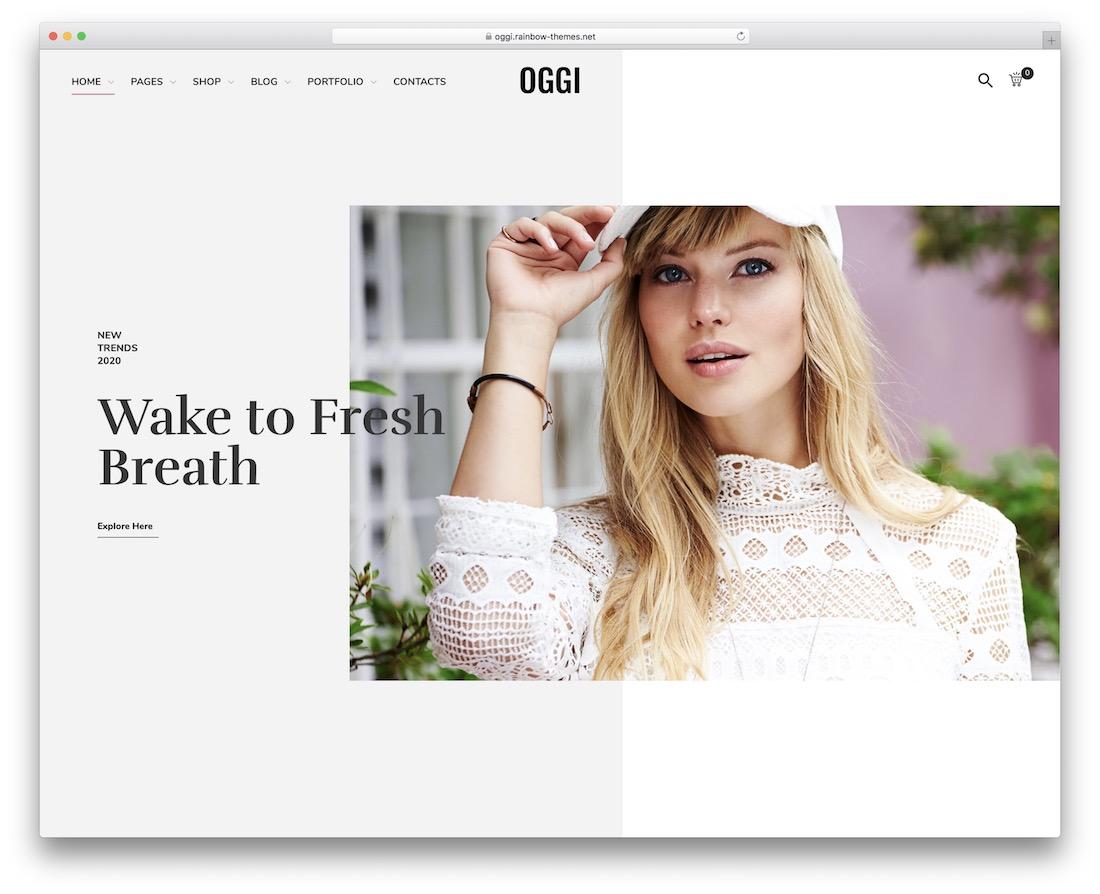 oggi fashion website template