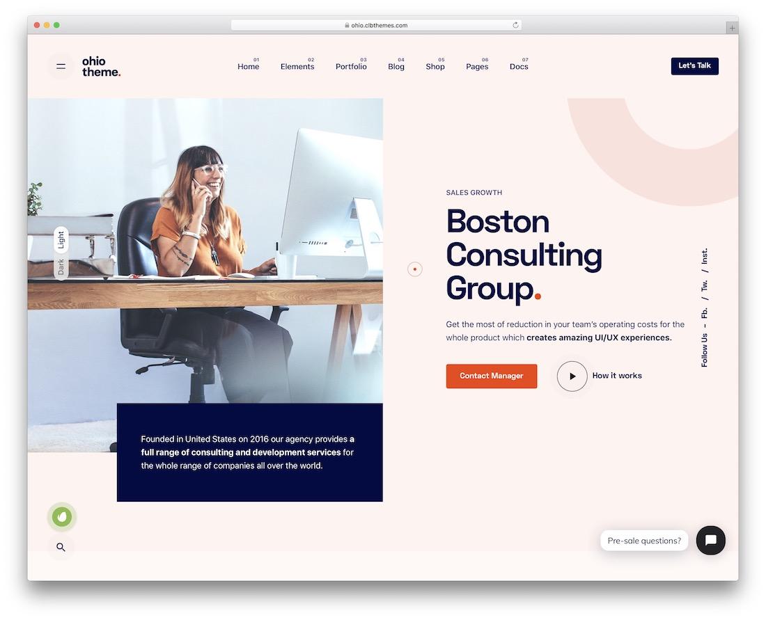 ohio business website template