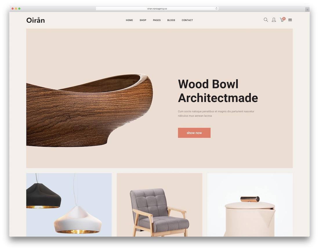 oiran furniture wordpress theme