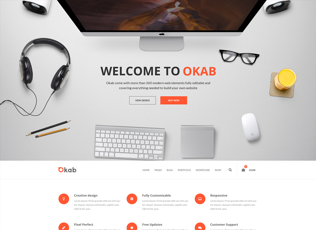 Okab | Responsive Multi-Purpose WordPress Theme + RTL