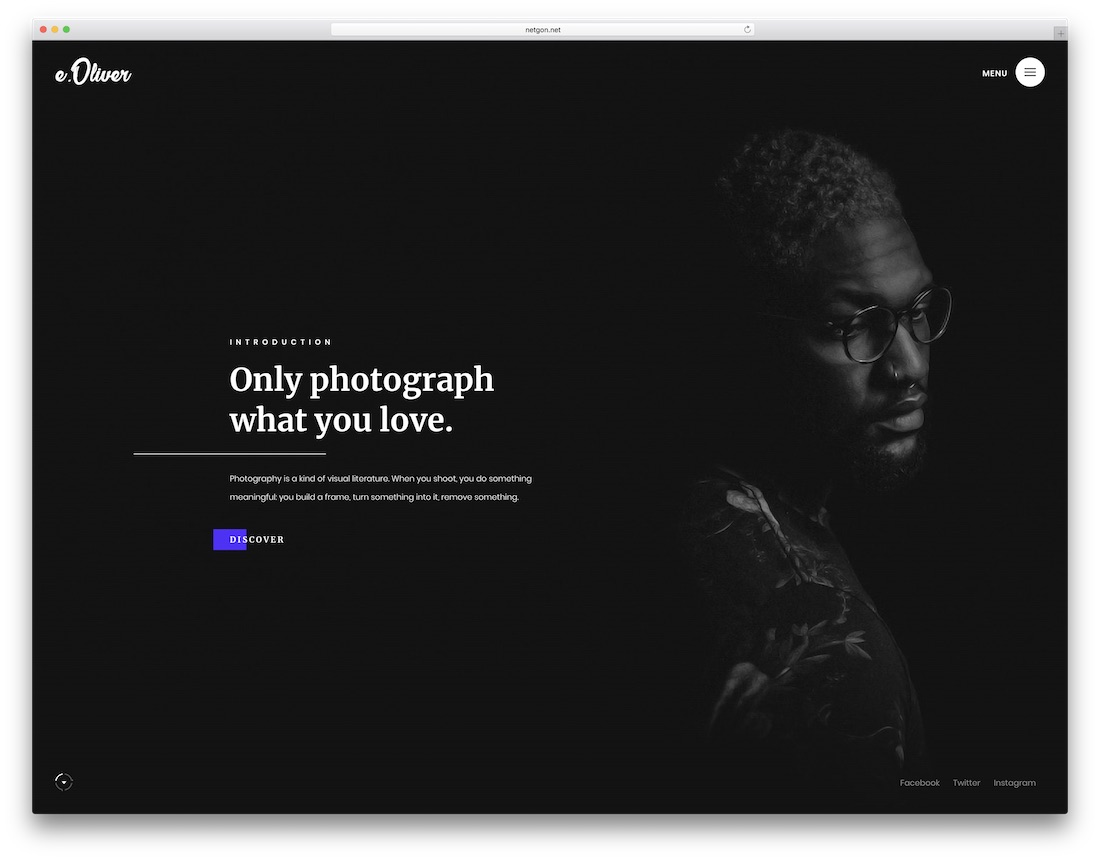 oliver artist website template