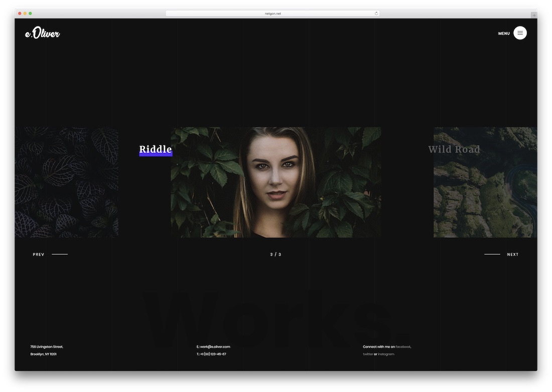 oliver photography website template