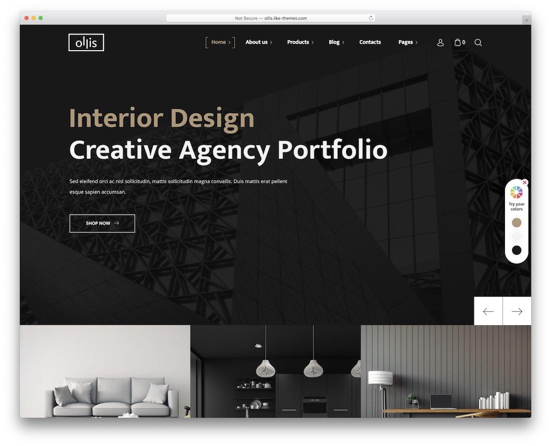 ollis wordpress theme for architects
