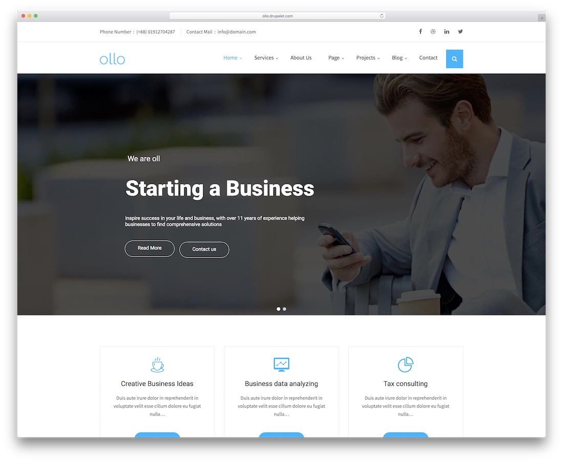 ollo drupal business template