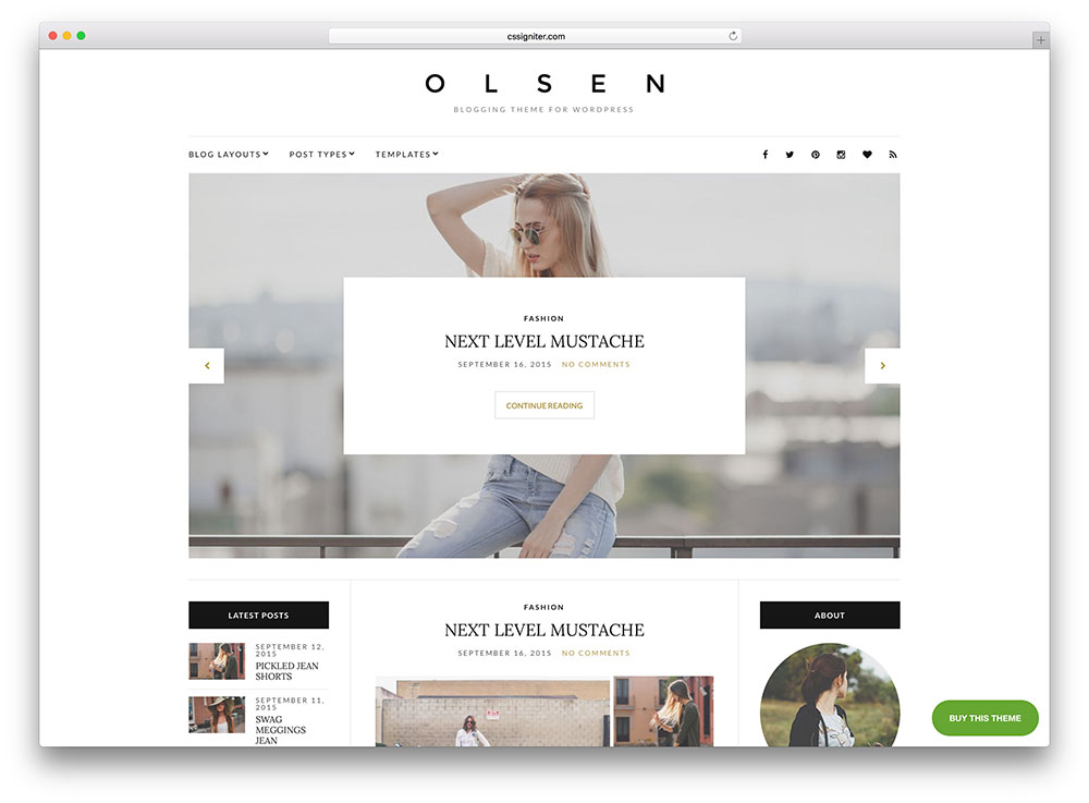 olsen-minimal-creative-blog-theme