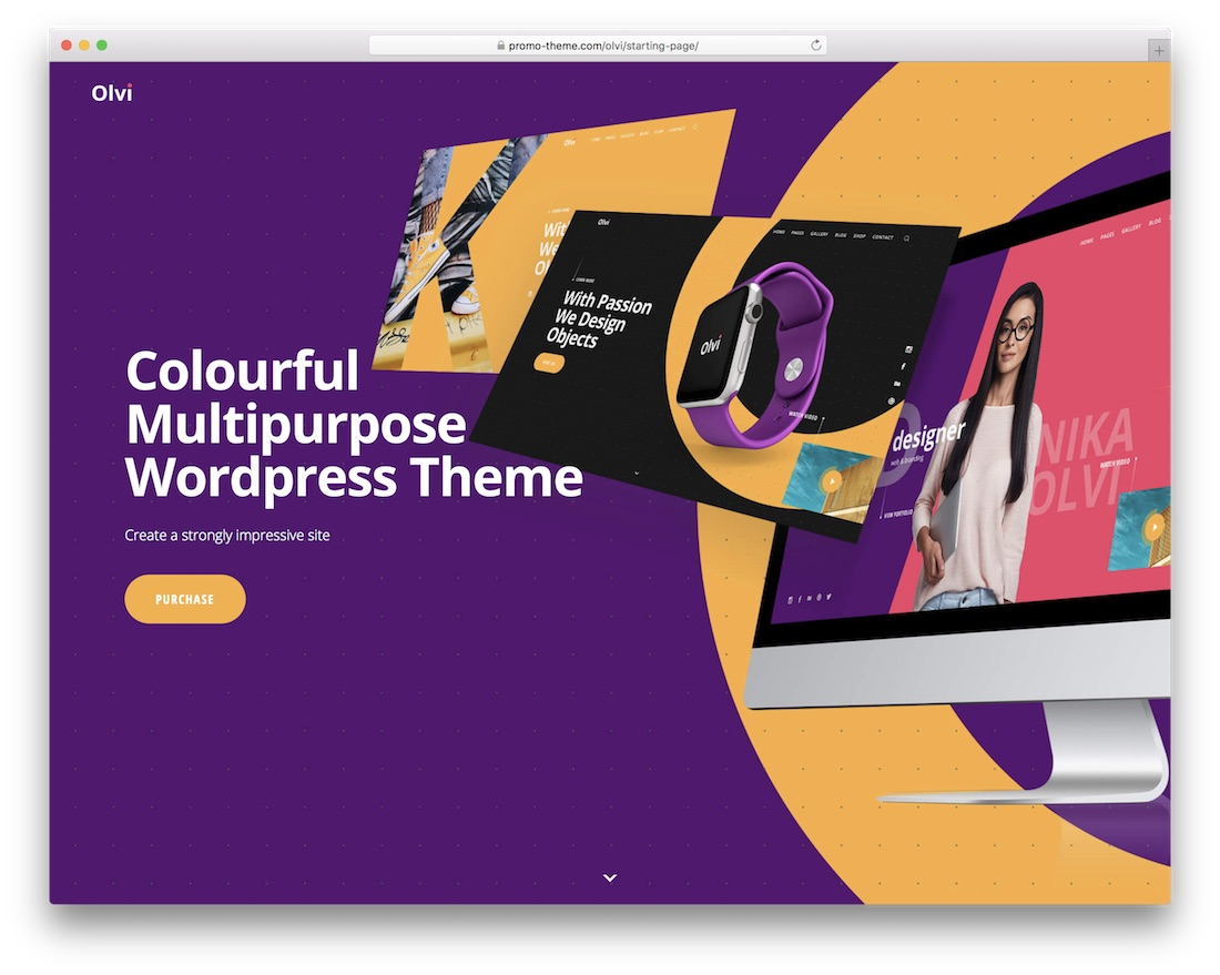 olvi colorful wordpress theme