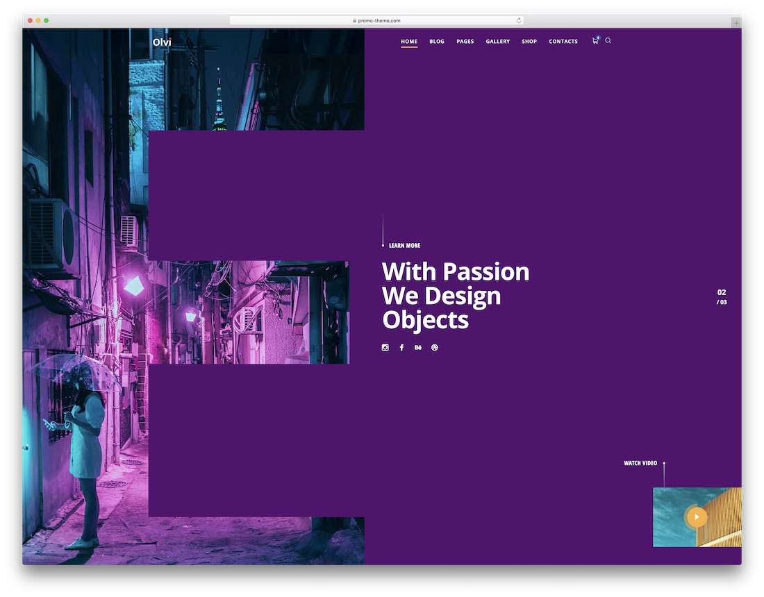 olvi wordpress theme static websites