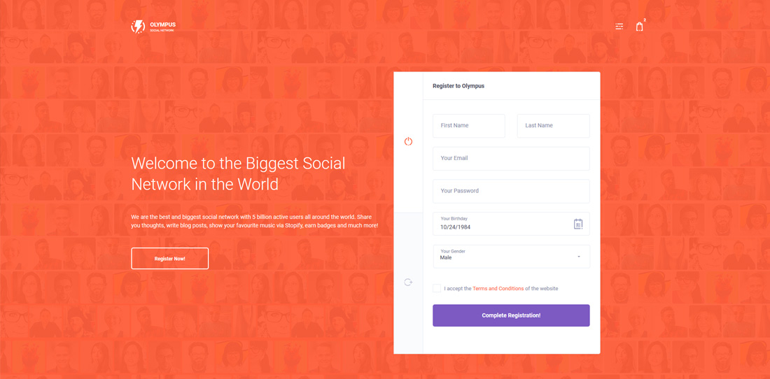olympus-bootstrap-social-network-templates