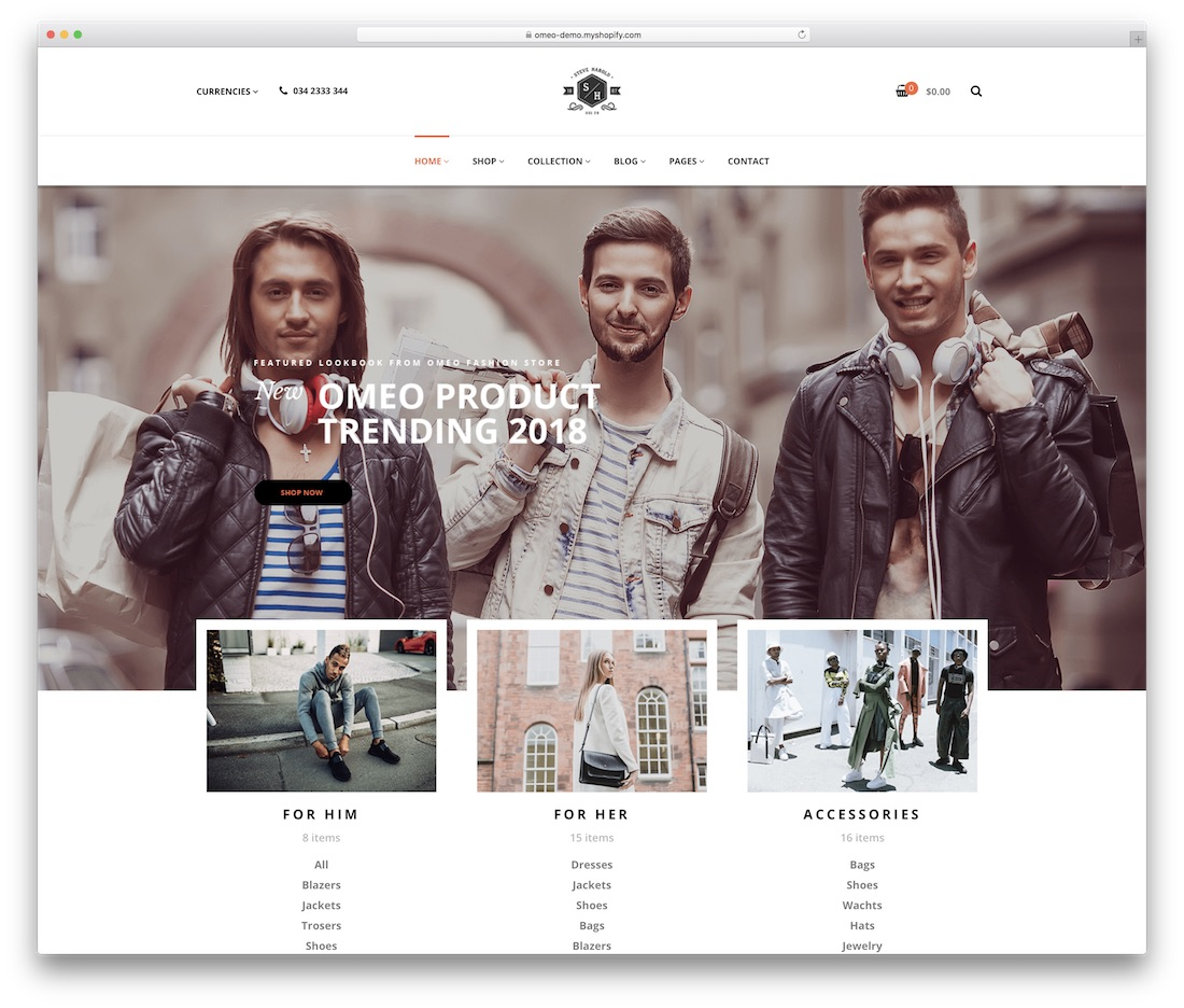 omeo shopify technology theme