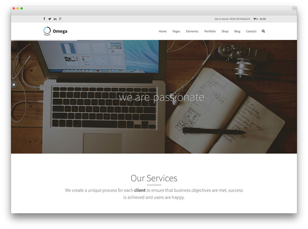 Omega WordPress business theme