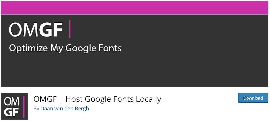 omgf free wordpress font plugin