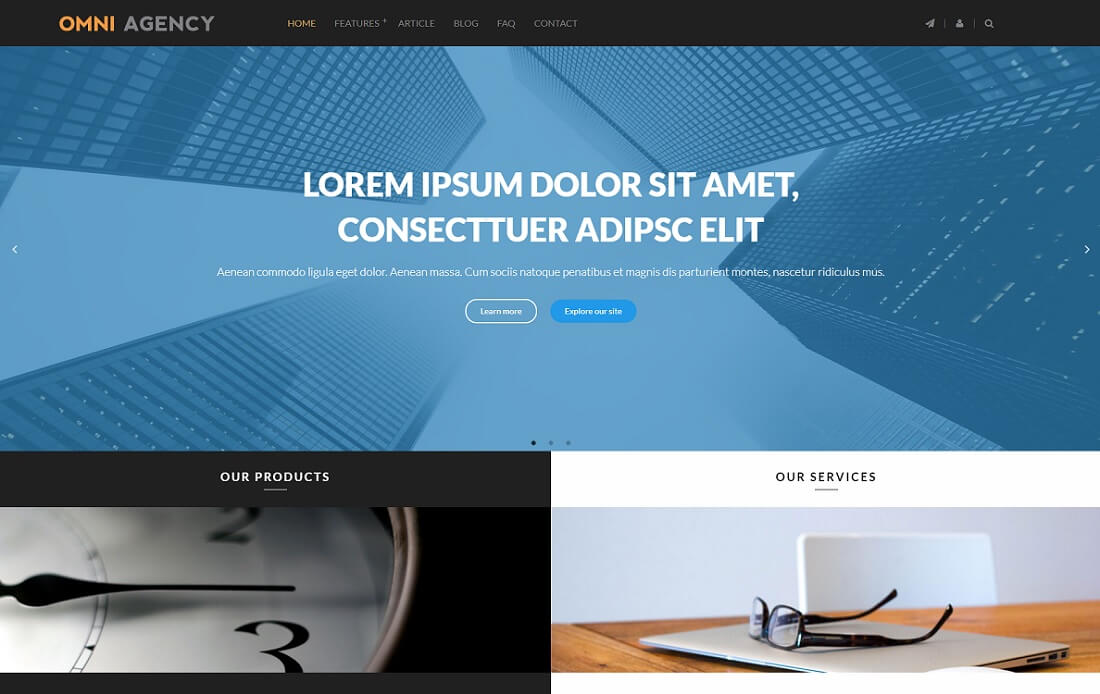 omni 4-in-1 drupal business template