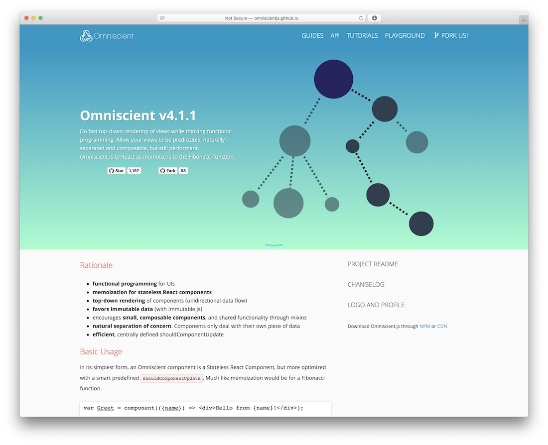 omniscient javascript framework