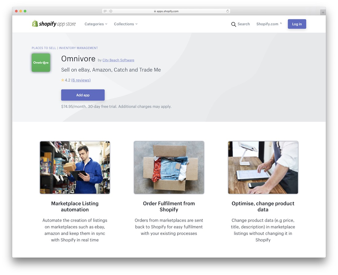 omnivore shopify marketplace app