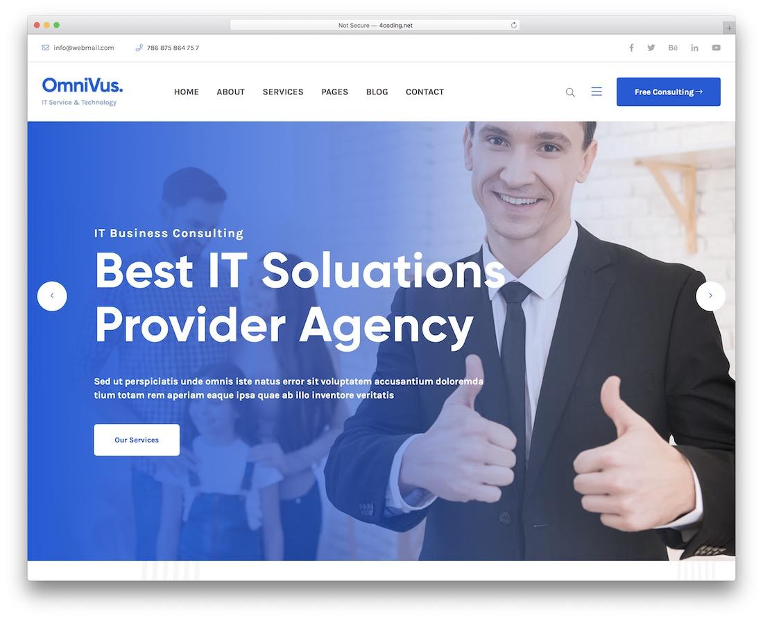 omnivus drupal business website template