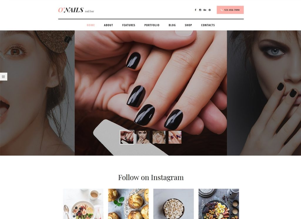 O'Nails | Nail Bar & Beauty Salon WordPress Theme