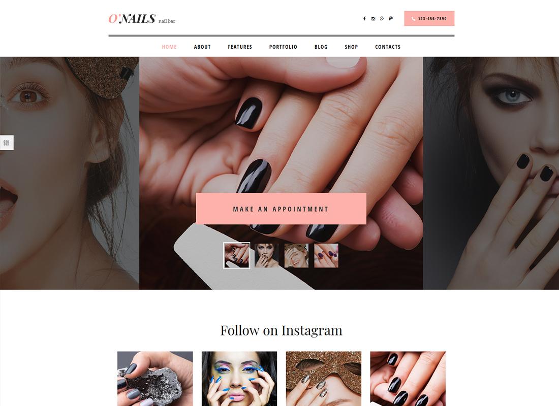 O'Nails | Nail Bar & Beauty Salon WordPress Theme