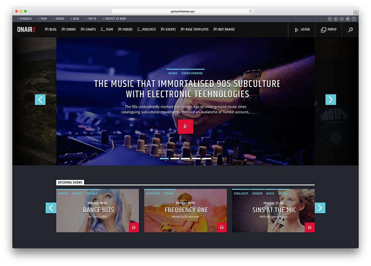 Top 18 Popular WordPress Radio Station Themes 2019 - Colorlib