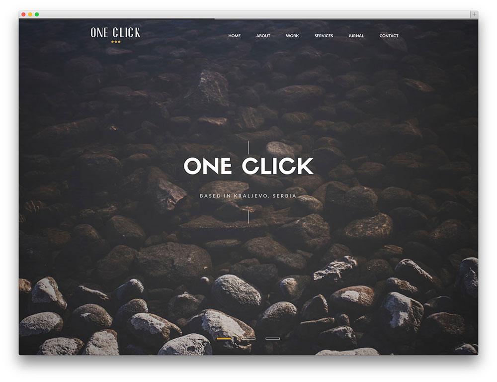 One Click Parallax WordPress Template