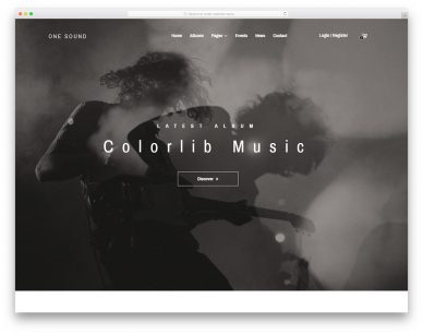 One-music Free Template