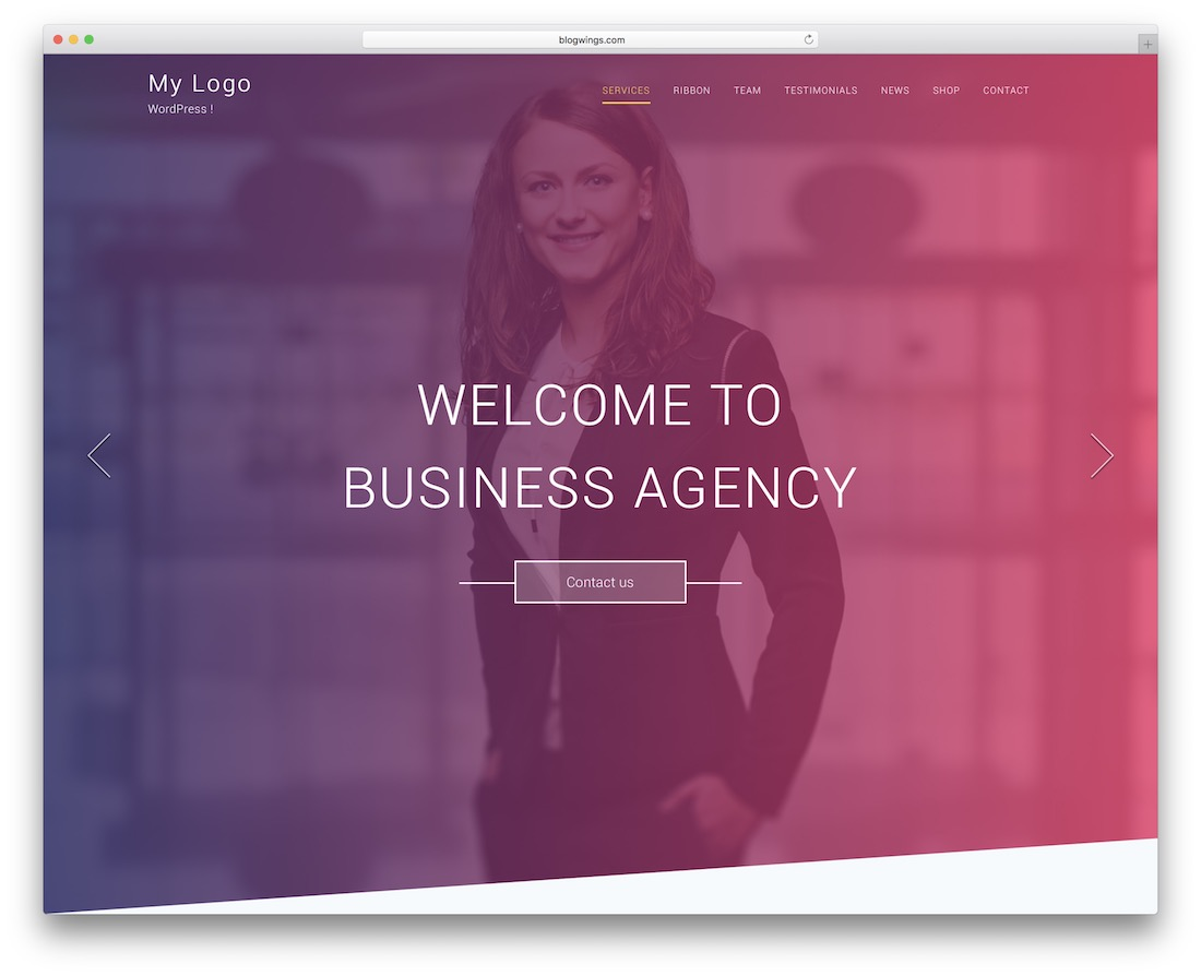 one page agency free wordpress theme