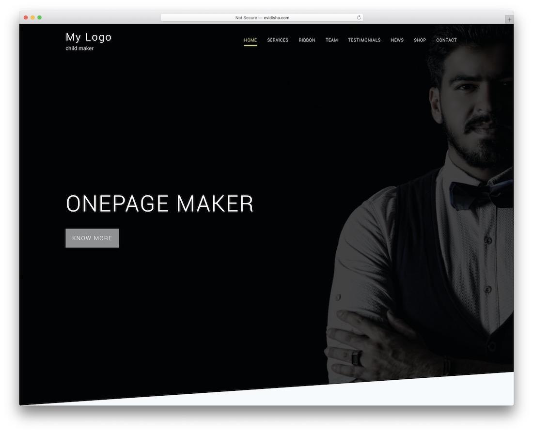 29 Best Free One Page WordPress Themes 2019 - Colorlib