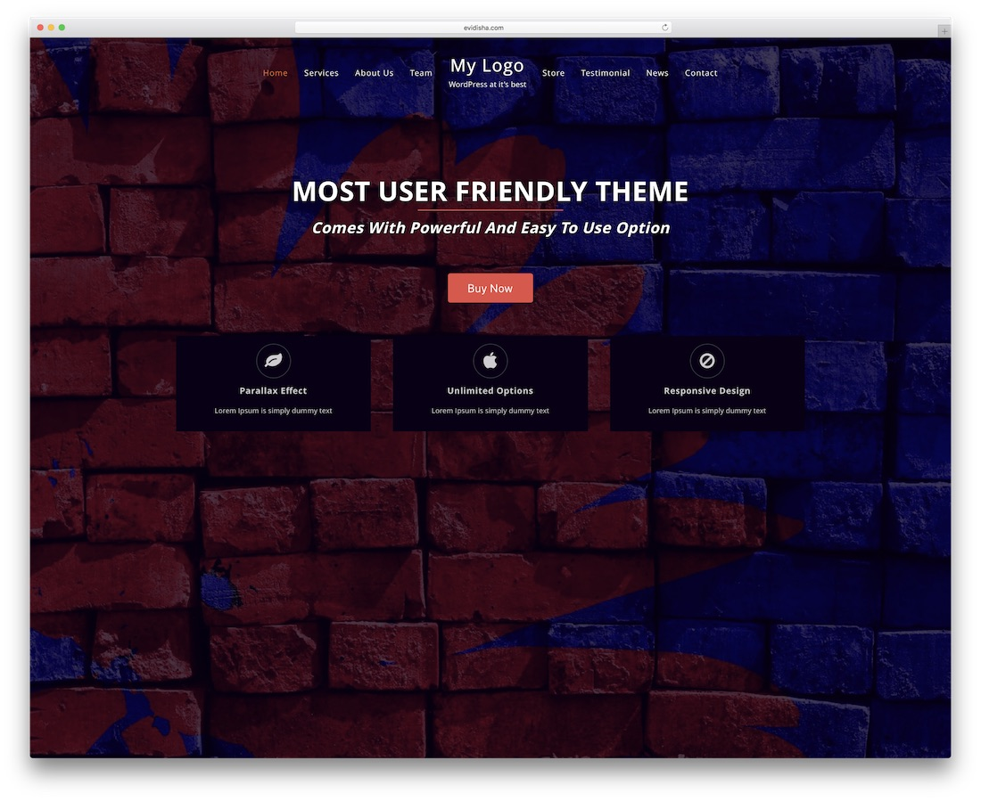 one page power website template