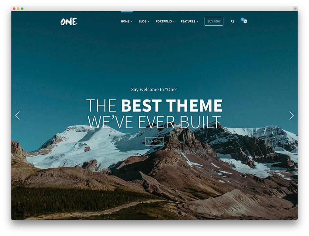 One page business template
