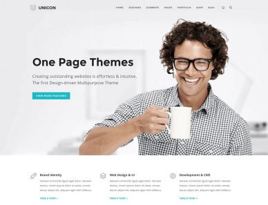 Single Page WordPress Business Themes