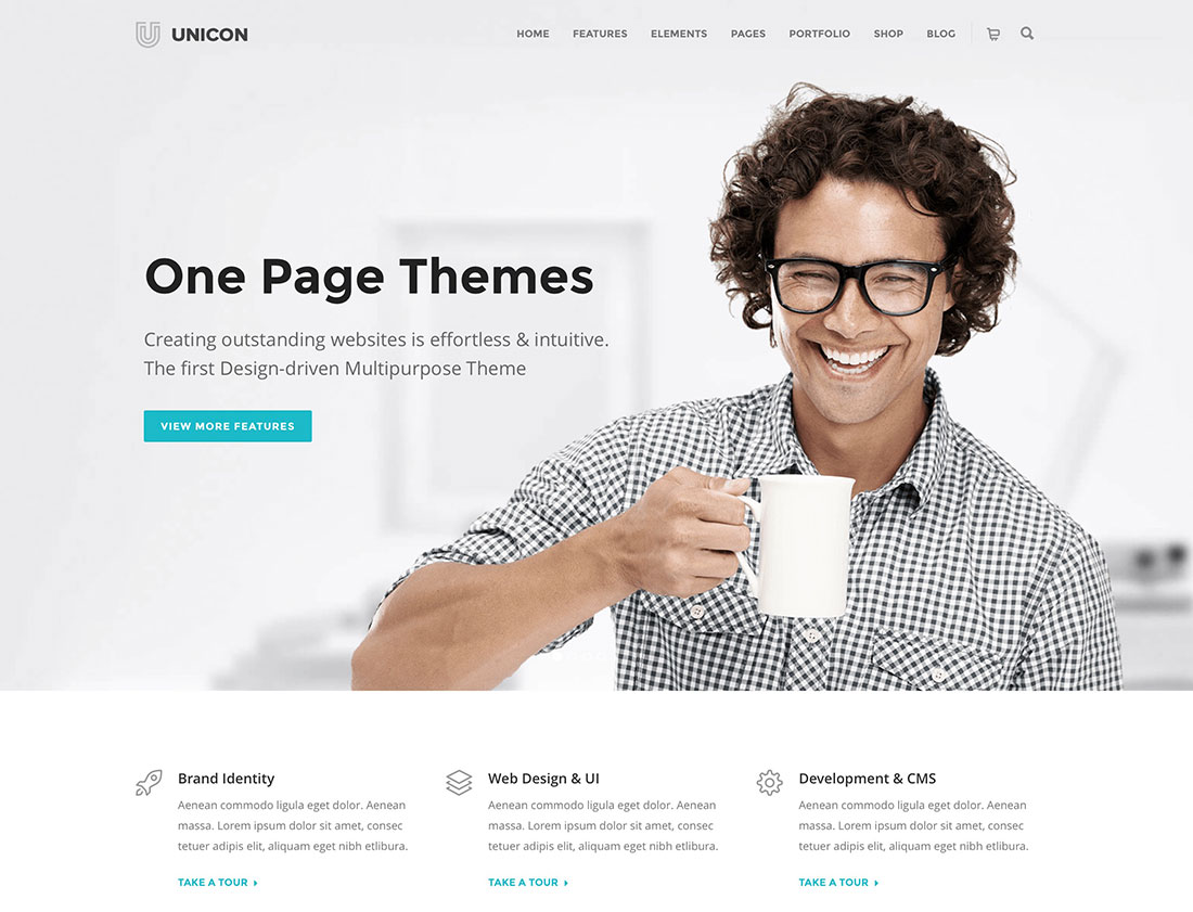 Top 32 Most Popular One Page WordPress Business Themes For Tech Startups 2019