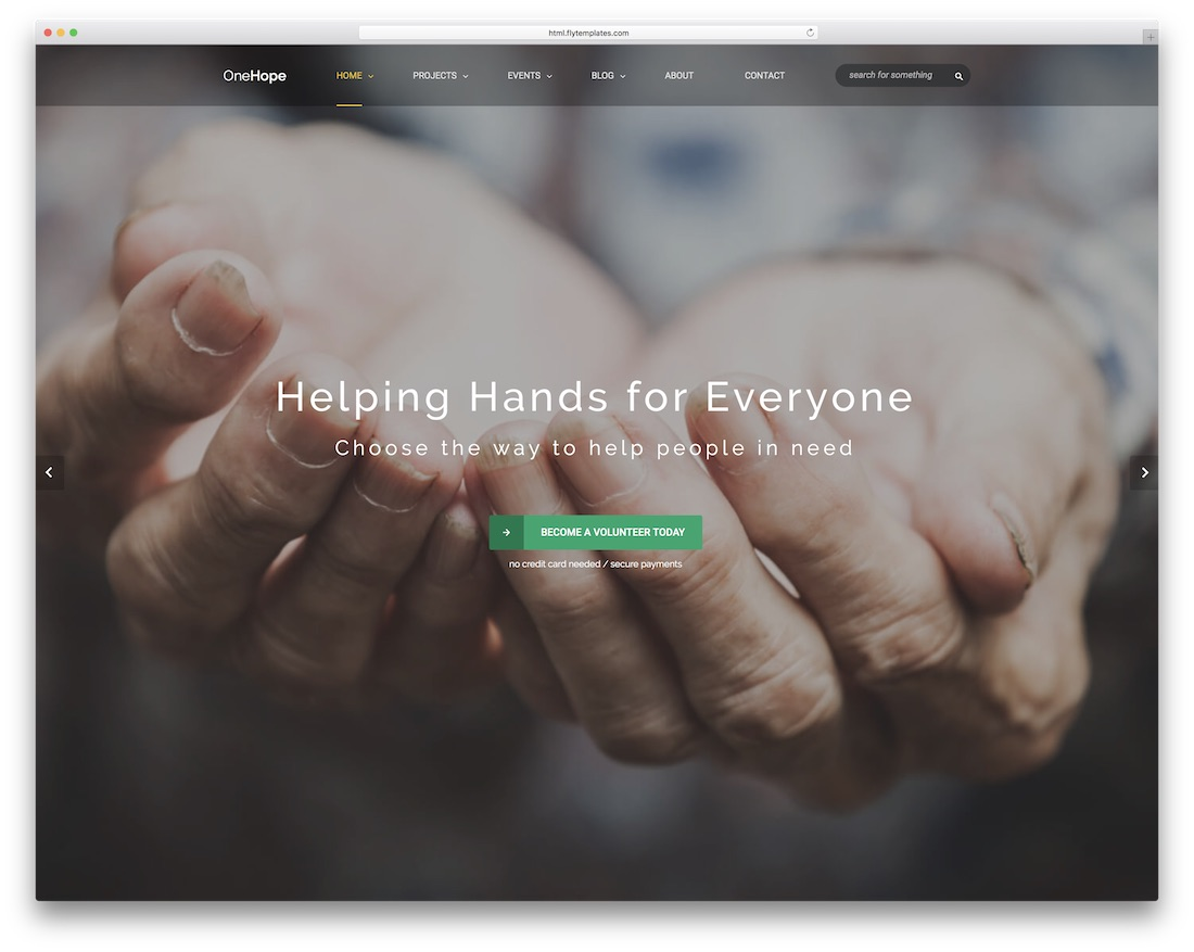 onehope website template