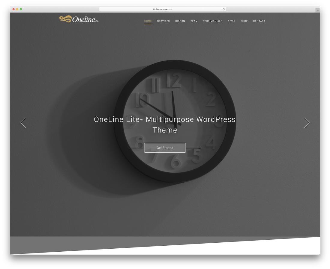 oneline lite website template