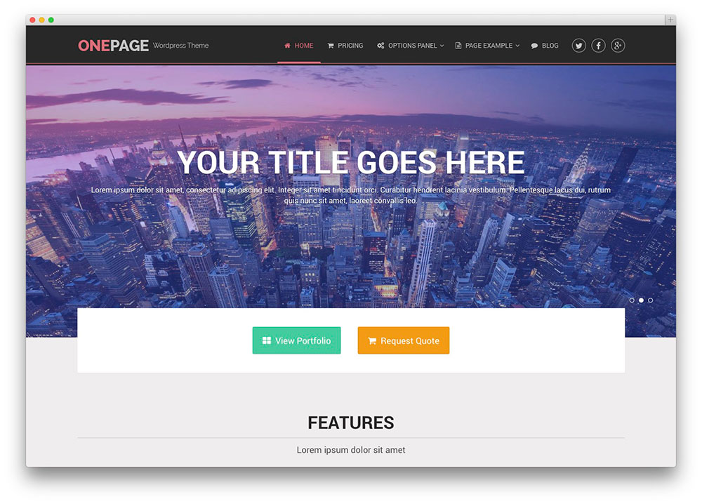OnePage lawyer theme
