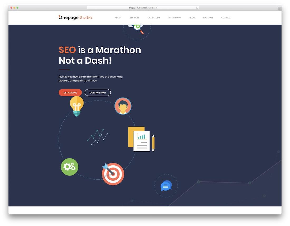 onepage studio marketing website template