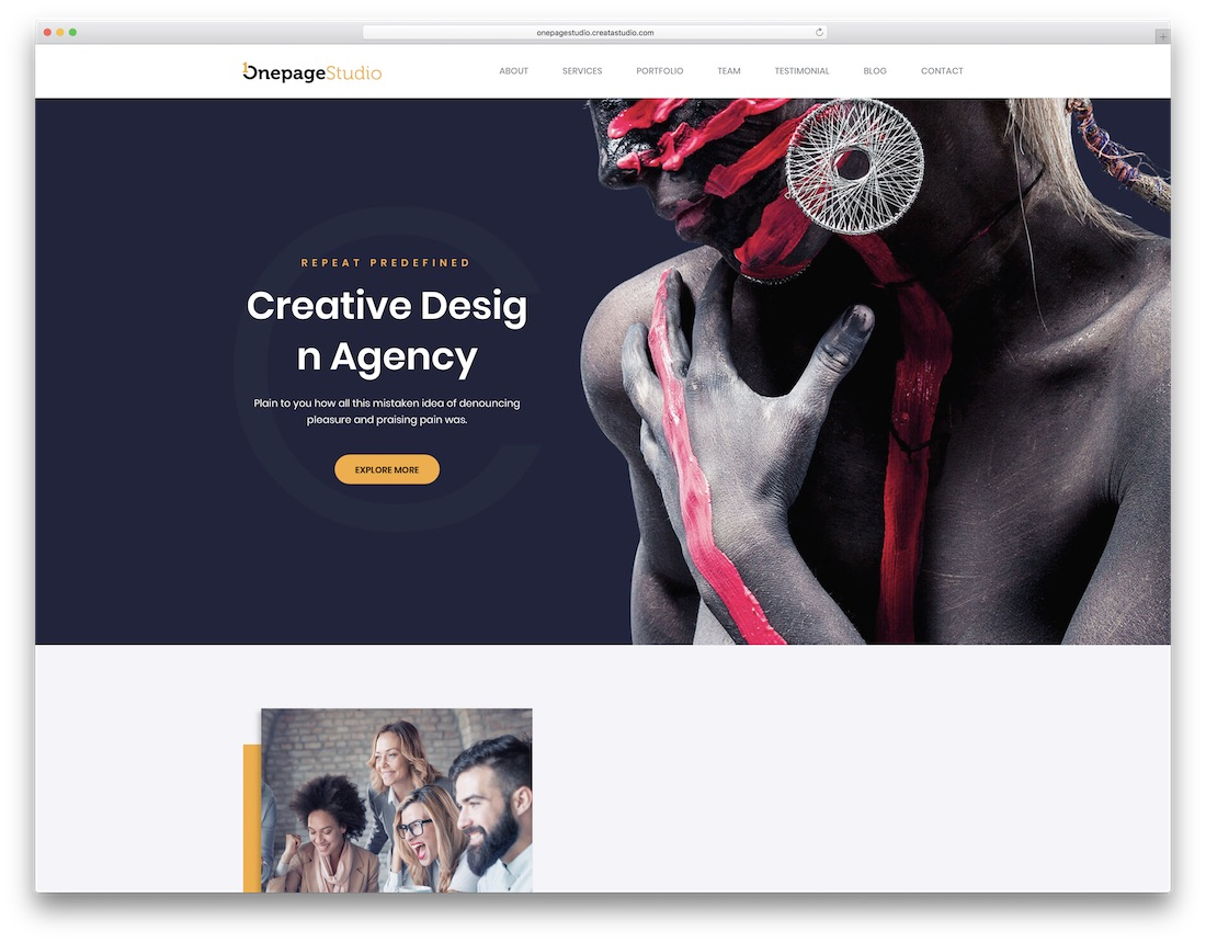 onepage seo friendly website template
