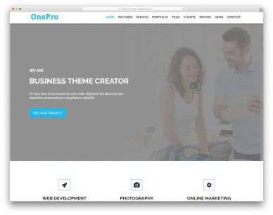 Onepro Free Template