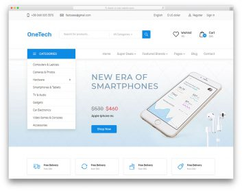 Onetech Free Template