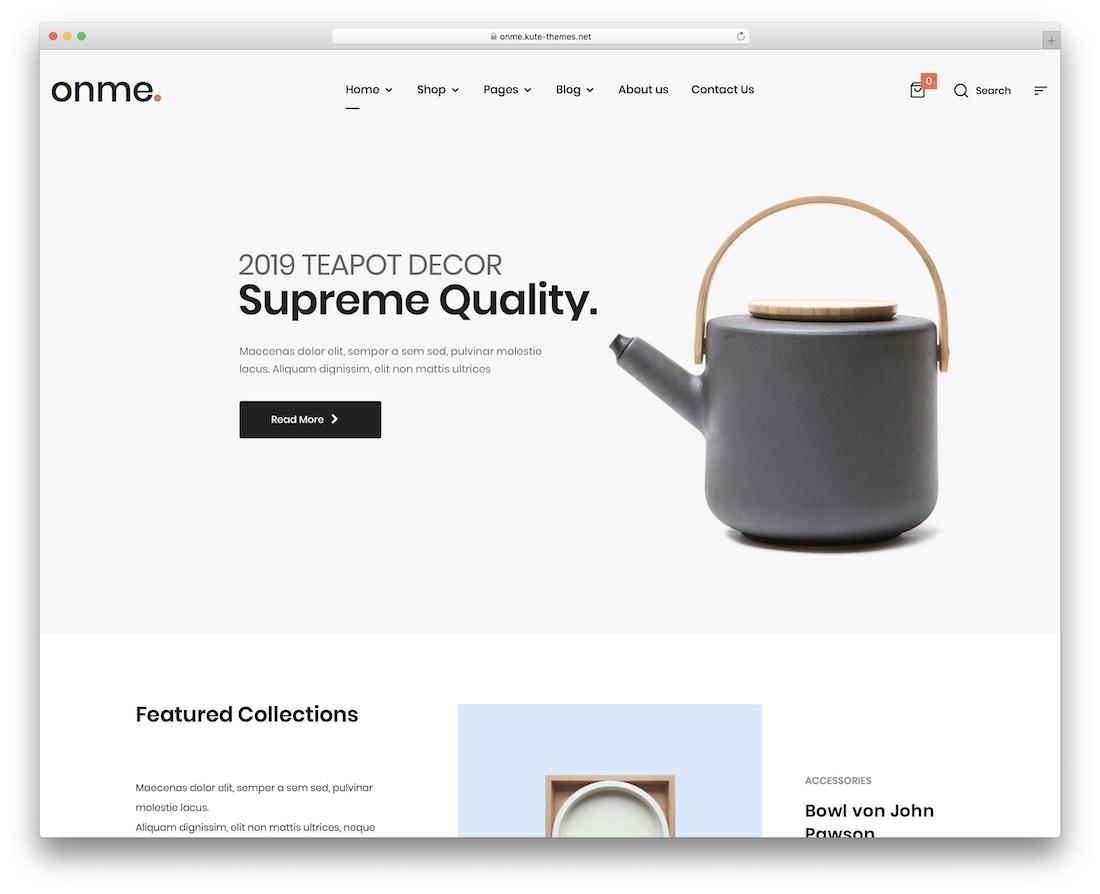 onme wordpress webshop theme