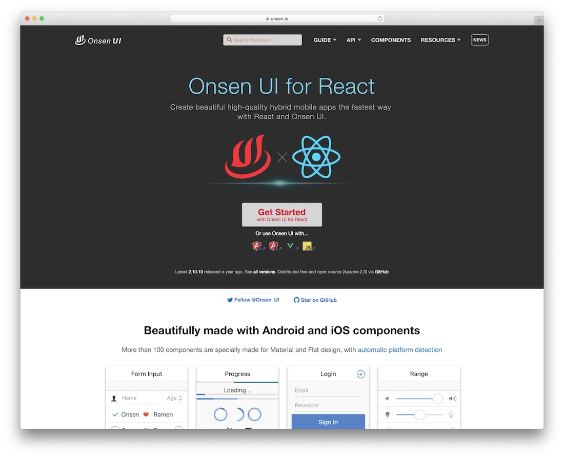 onsen ui for react