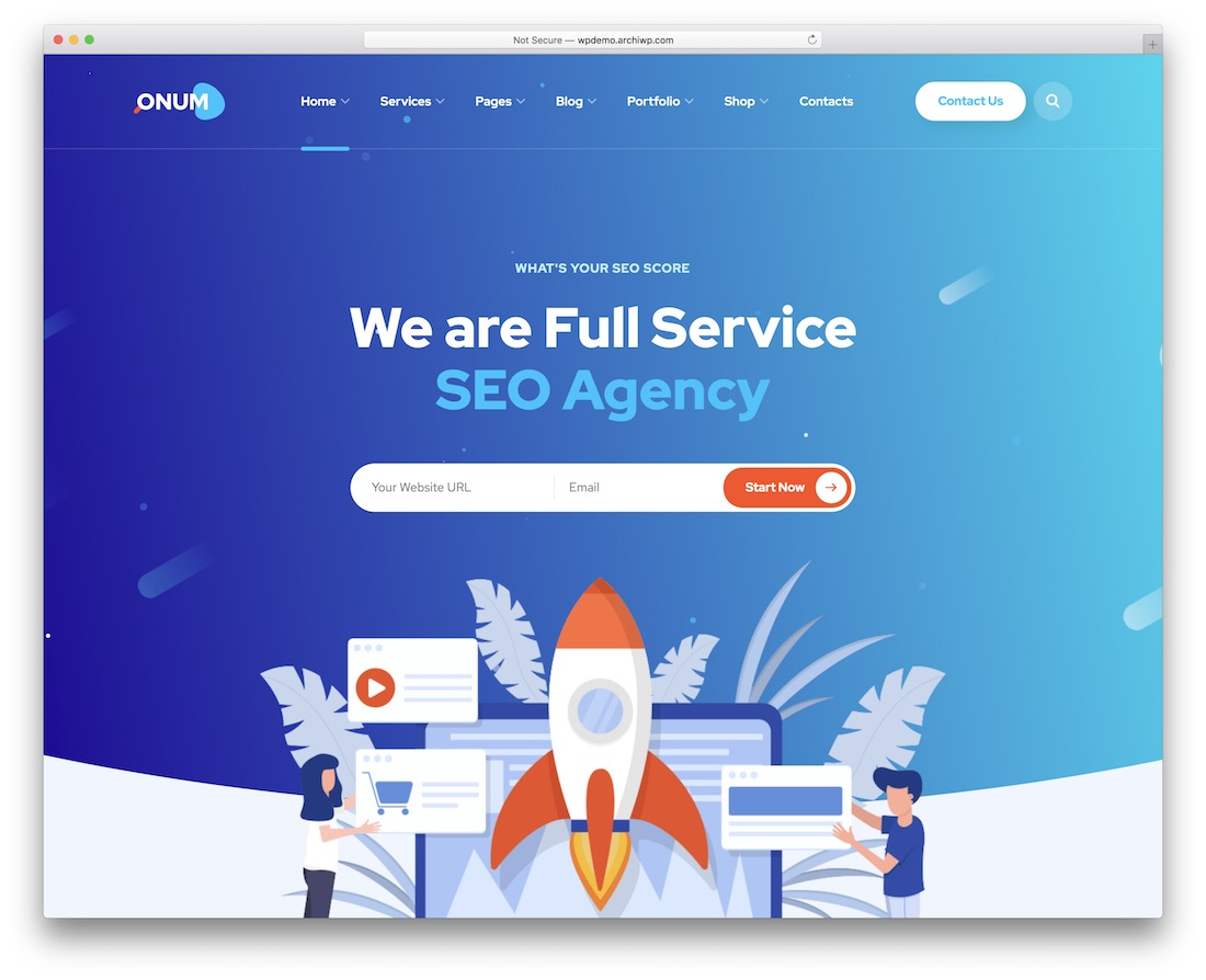 onum marketing website template