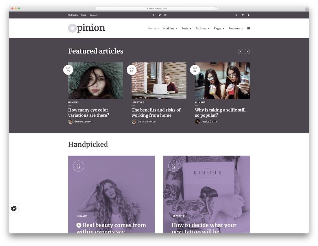 opinion beautiful wordpress theme
